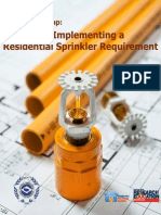 Guide to Implementing a Residential Sprinkler Require