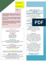 Newsletter July 2014