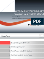 How to Make Your Security Aware in a BYOD World Symposium Barcelona Spain