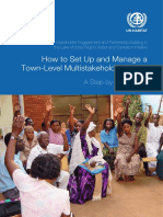 How to Set Up and Manage a Town-Level Multistakeholder Forum