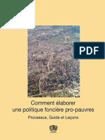 Comment Élaborer Une Politique Foncière Pro-pauvres