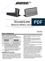 Bose Soundlink operator's manual