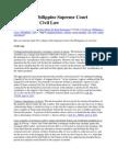 April 2011 Philippine Supreme Court Decisions on Civil