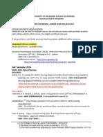 BSN JR TextbookList 2014 2015
