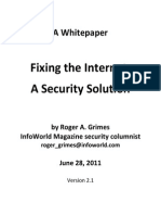 Fixing the Internet Security