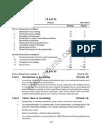 Class 11 Cbse Accountancy Syllabus 2012-13