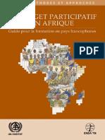 Le Budget Participatif en Afrique – Manuel de Formation Pour Les Pays Francophone - Volume II Methodes Et Approches