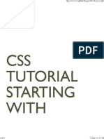 Starting with HTML + CSS