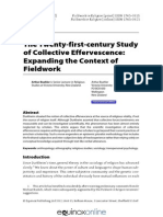 Buehler-The Twenty-first-century Study of Collective Effervescence