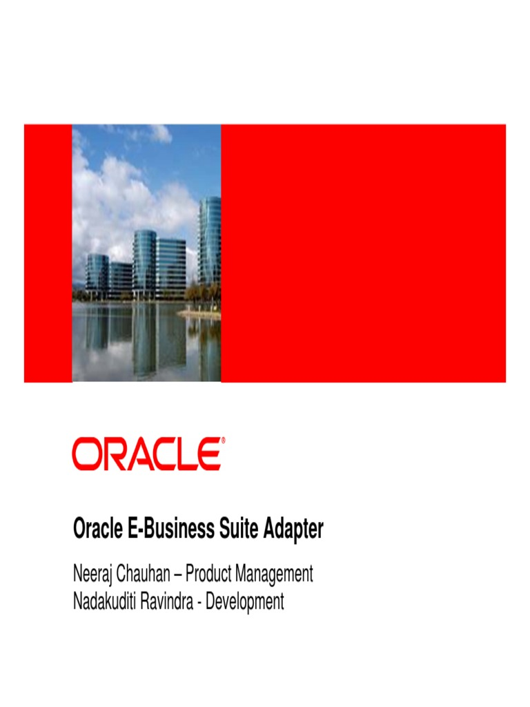 Ebs Adapter Webcast | Oracle Database | Application Programming