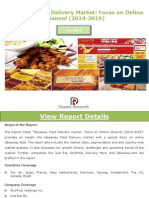 Global Takeaway Food Delivery Market - Focus on Online Channel (2014-2019) - New Report by Daedal Research