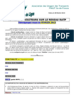 METro BUS TRA RapportTemoinsdelignefevrier 2013