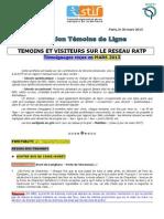 METro BUS TRA RapportTemoinsdelignemars2013