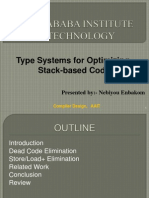 Type Systems for Optimizing Stack-based Code