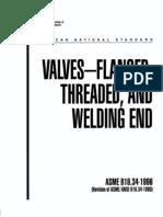 VALUES FLANGED ASME B16 34-1996 (1)