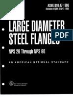 ASME B16.47-1996 LARGE DIAMETER STEEL FLANGES