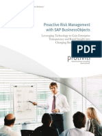 Proactive Risk Mgmt SAP BusinessObjects Protiviti