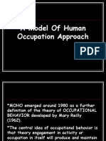 A Model of Human Occupation Approach