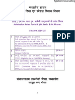 MP DTE M.pharma Counselling 2014 Rule Book