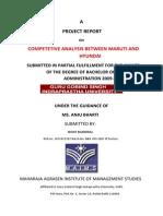 Competetive Analysis Between Maruti and Hyundai