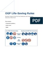 Life Saving Rules Speaker Support Pack Jan 2012
