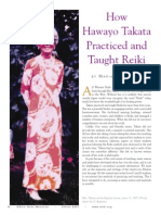 How Hawayo Takata practiced and thaught Reiki