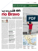 Crecida en Río Bravo