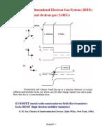 Two Dimensional Electron Gas System (2DEG)