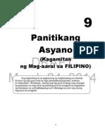 Filipino Module For Grade 9