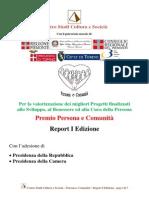 persona e comunit - report i edizione