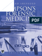 Simpson's Forensic Medicine 12th Ed. 2003