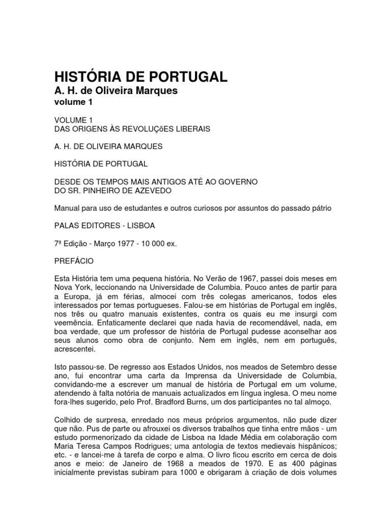 1cc5bb2fdd História.de.Portugal.-.Volume.I.-..A..H..de.Oliveira.Marques