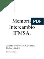 Memoria Intercambio IFMSA Elisa García lopez