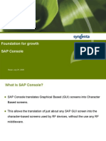 SAP Console Foundation