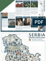 Karta Manastira Srbije  Eng 1 edition