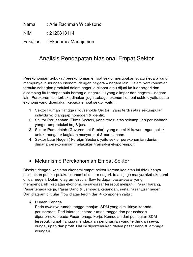 Analisis pendapatan nasional 4 sektor ccuart Image collections