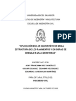 Aplicacion de Los Geosintéticos en La Estructura de Los Pavimentos y en Obras de Drenaje Para Carreteras