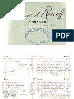 Carnets comptables Sauvetage en mer  Roscoff  - 1899 / 1908