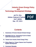 20131212 Taiwan Auto Industry Green Energy Policy and Technology Development Strategy