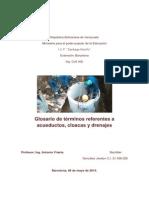 Glosario de Términos Referentes a Acueductos y Cloacas