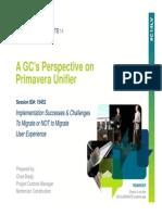 A GCs Persepective on Primavera Unifier PPT