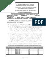 Itpm CA Test Paper Final Memo 2012 - Copy
