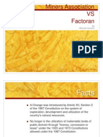 Miners vs Factoran
