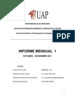 Informe 1 Octubre - Noviembre Julio Peña Galindo