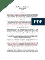 The Master Key System (Edited by AU)