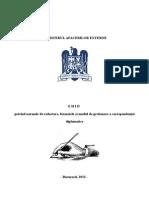 Ghid Privind Normele de Redactare Formatele Si Modul de Gestionare a Corespondentei Diplomatice