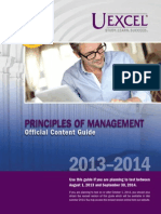 Exam Content Guide Principles of Management