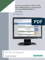 WinCC V11 Panel MPI DP Transfer En