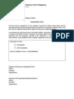 BMAP Letter of Endorsement Certificate