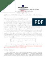 Fundamentos Das Ciências Sociais 2014.1 Doc